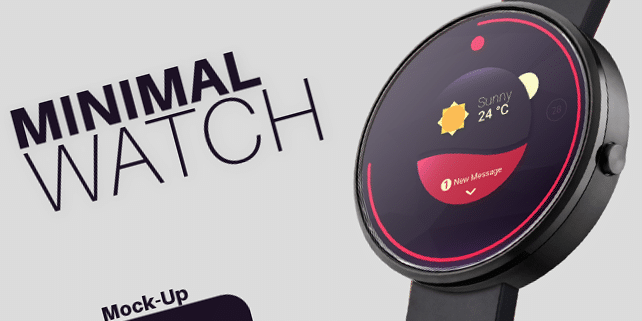 Minimalist smartwatch mockup