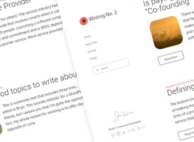 writing-2-simple-blog-wordpress-theme