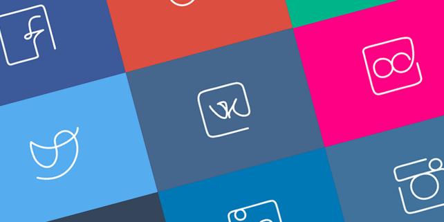 10-social-media-one-line-icons