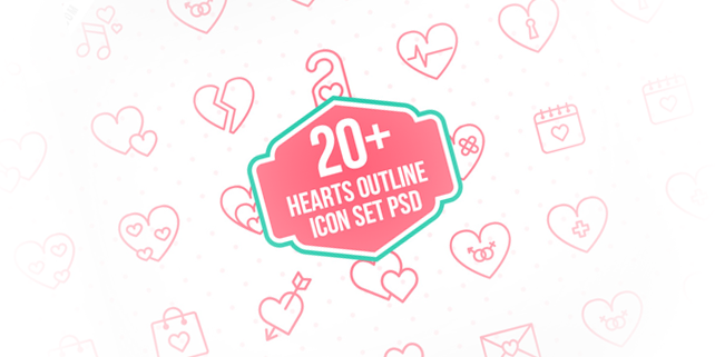 23-lovely-heart-outline-icons