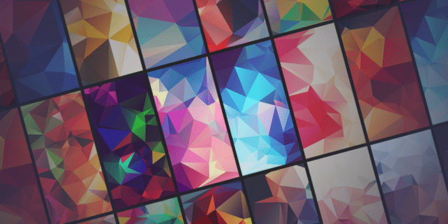 70+ polygonal / low poly backgrounds