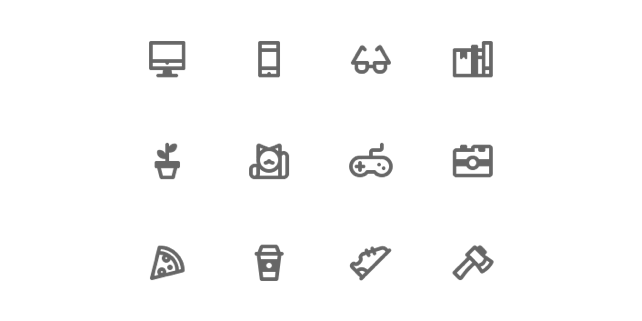 Designer's house icons