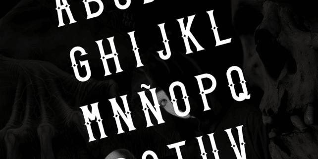 Caja – creative uppercase font
