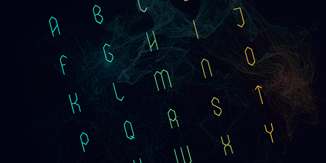 elexia-creative-hexagonal-font