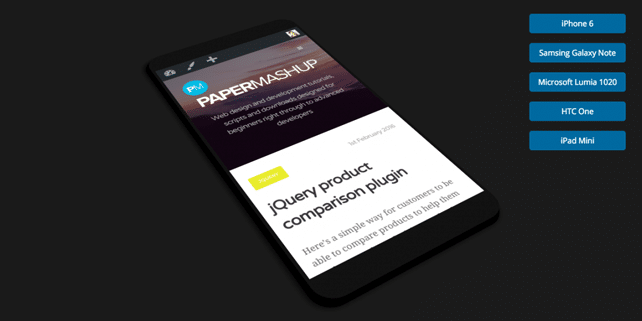 How to create a mobile preview tool with pure CSS