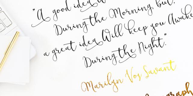 Modesty – stylish, calligraphy font
