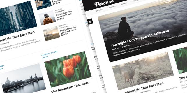 Perdana – clean blog HTML template