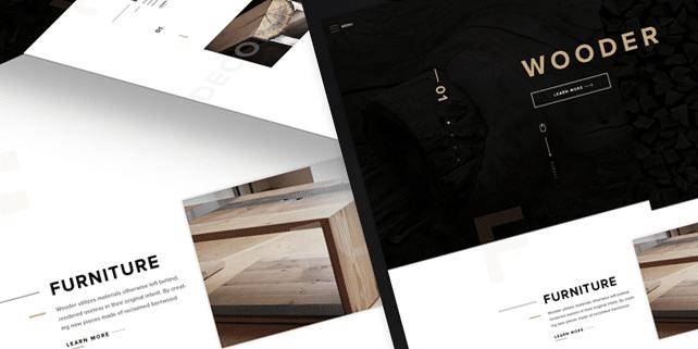 wooder-clean-modern-psd-template