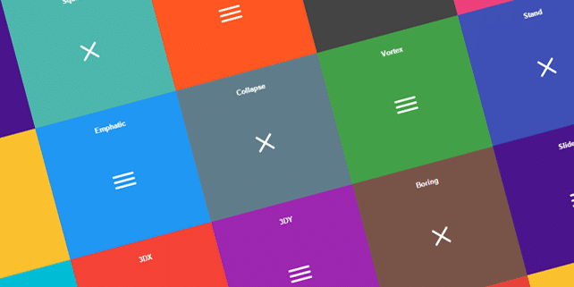 14 fancy hamburger menu effects