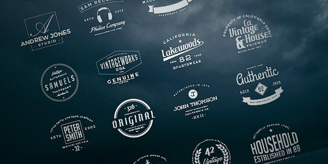 16 clean, vintage logos