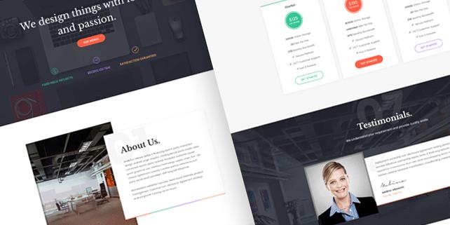 Alexis – modern portfolio PSD template