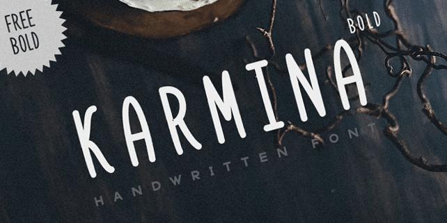Karmina – balanced, creative font