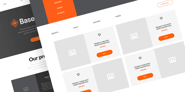 Basement – ecommerce wireframe UI kit