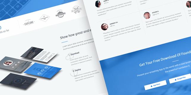 Foundapp – app showcase HTML template