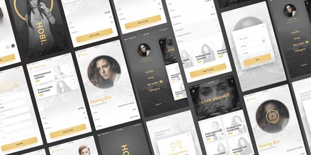 Hobi – elegant mobile e-commerce UI kit