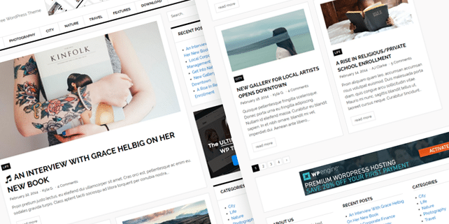 Today – clean magazine WordPress theme