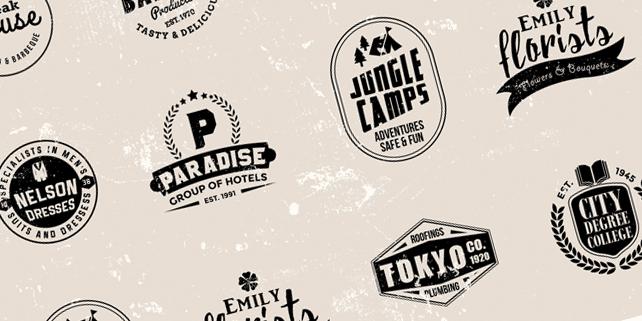 8 vintage vector logos