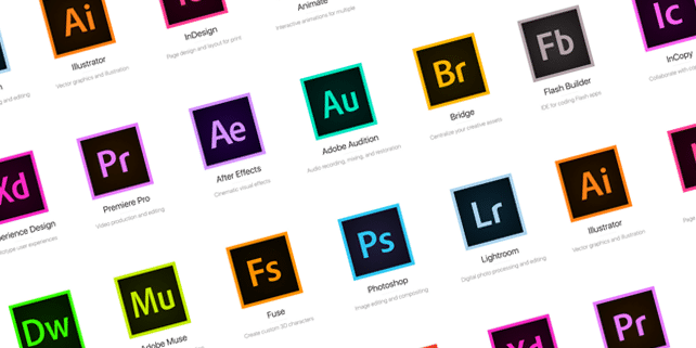 All Adobe CC 2015 icons