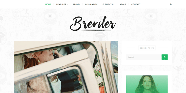 Breviter – sharp blog WordPress theme