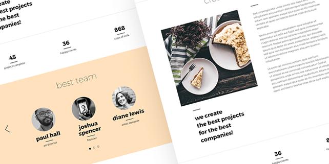 Clemo – creative PSD template