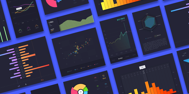 Colorful chart UI kit