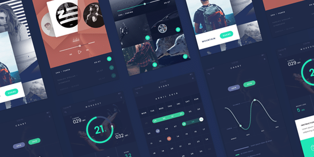 Fade – flat, stylish mobile UI kit