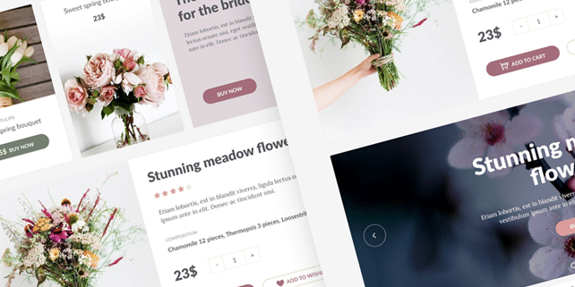 Flowerkit – elegant and clean UI kit