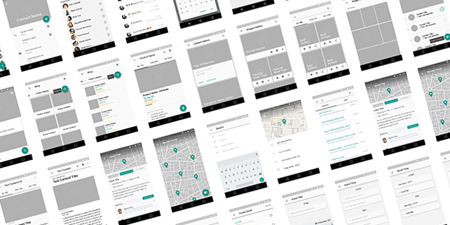 Material Design wireframe UI kit