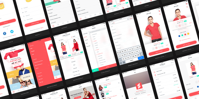 Stylish mobile eCommerce UI kit