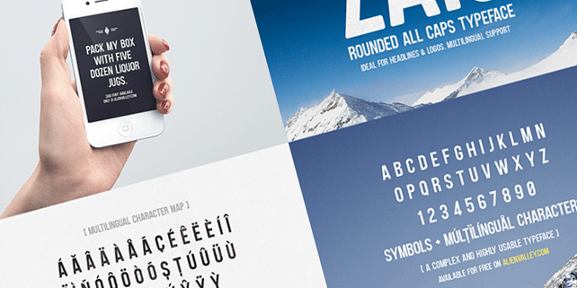 Zaio – clean rounded font