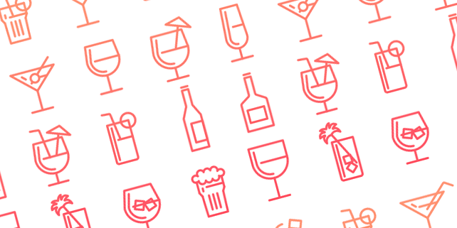 16 drinks vector icons