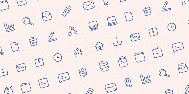 24 user interface vector icons