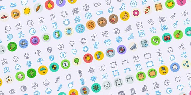 300 Unigrid line icons