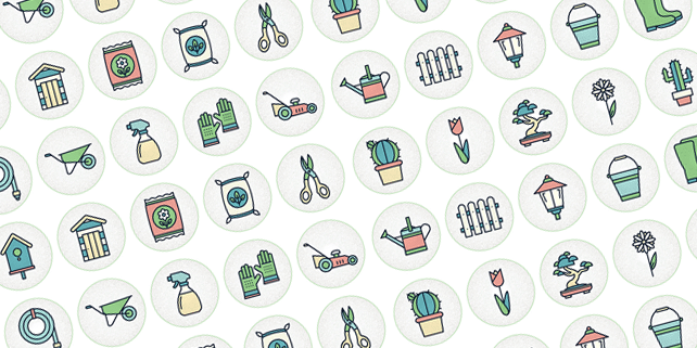 49 gardening vector icons