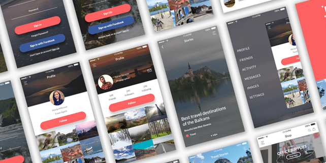 Balkan – modern mobile UI kit