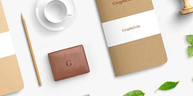 Fresh stationery mockup