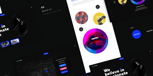 Global – modern, vivid PSD template