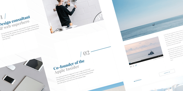 Minimalist portfolio PSD template