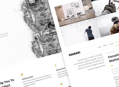 namari-clean-html-template