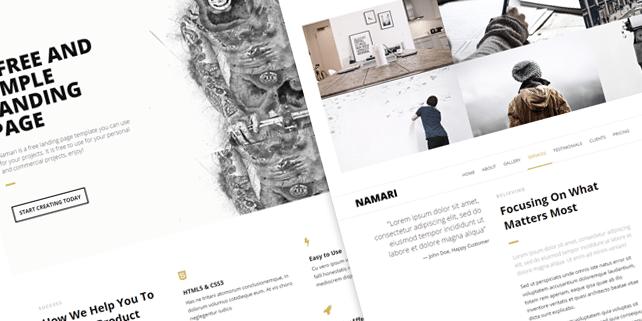 Namari – clean HTML template