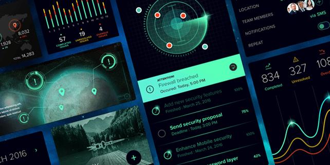 Sci Fi v2 – vibrant UI kit
