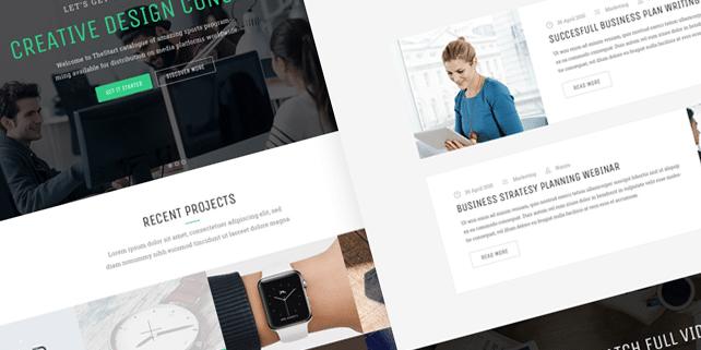 The Start – modern, creative PSD template