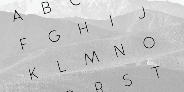 Alcubierre – geometric sans serif typeface