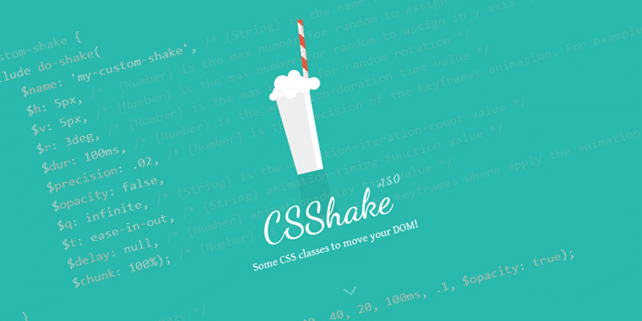 CSShake – CSS animation to shake HTML elements