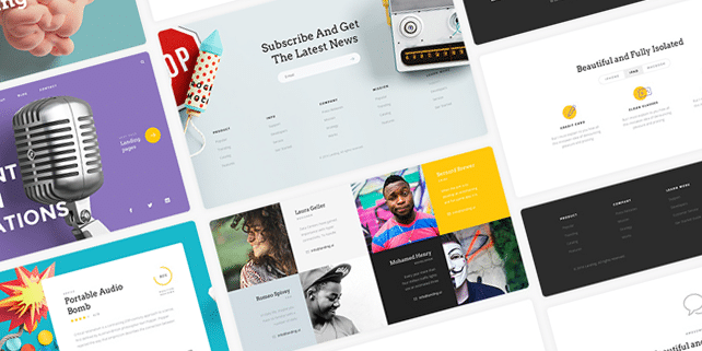 Landing – handcrafted UI kit for landing pages