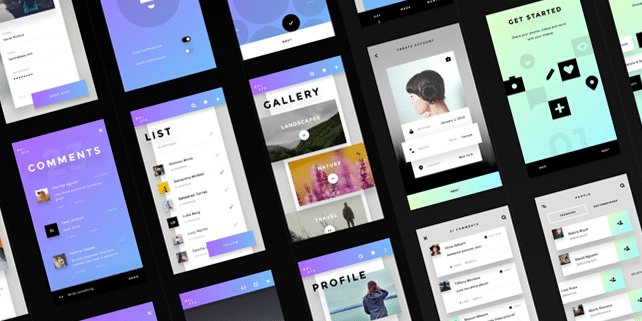 Relate – large mobile UI kit