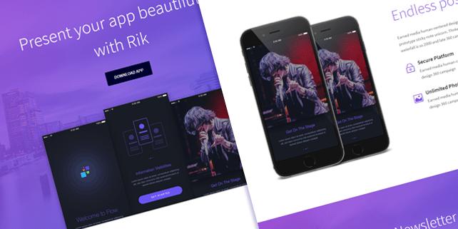 Rik – elegant HTML mobile app template