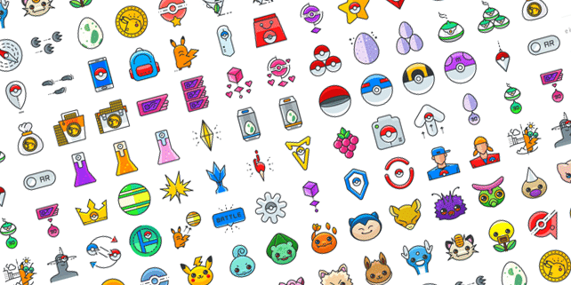100 Pokemon Go vector icons
