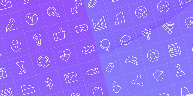 90 stylish outline icons