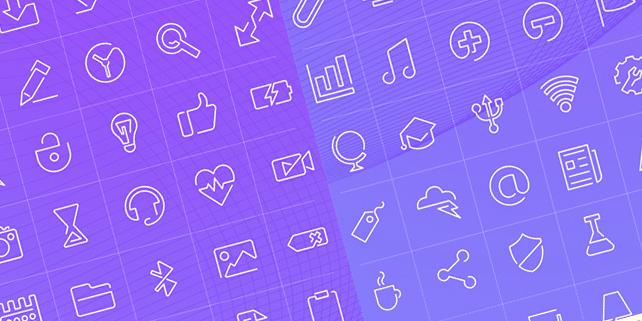 90 stylish outline icons